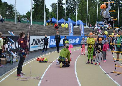 Kiipeilyä Sporttipäivässä 2016